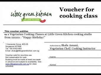 Cooking Class Vouchers