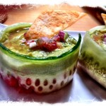 Avocado-gaspacho mousse